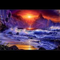 Havet i solnedgang