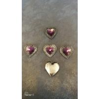 Hjerter lys lilla