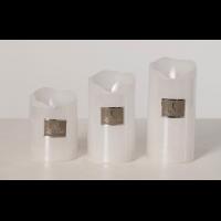 LED m/timer hvit medium