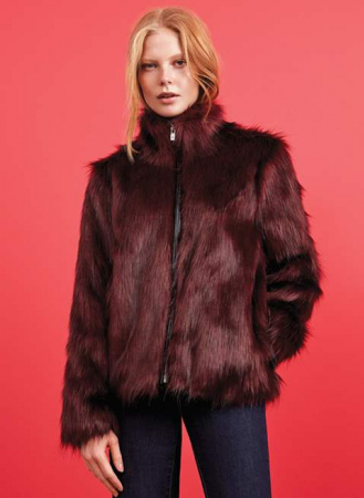 161bf6cf Sint Tropez long hair faux fur jacket - The Dressingroom