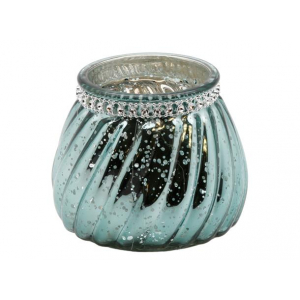 Lysglass vridd m/diam. grønn 11x9,5cm