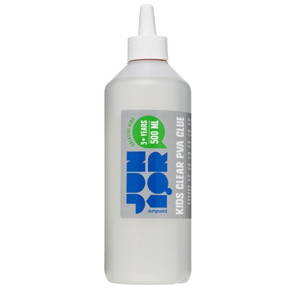 Kids Clear PVA Glue 500ml Egnet til slim