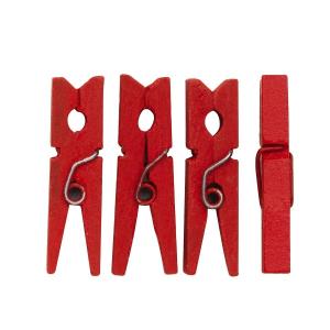 Klesklyper Røde, 30mm, 48stk