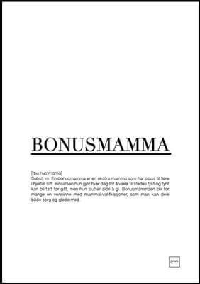 Bonusmamma 30x40