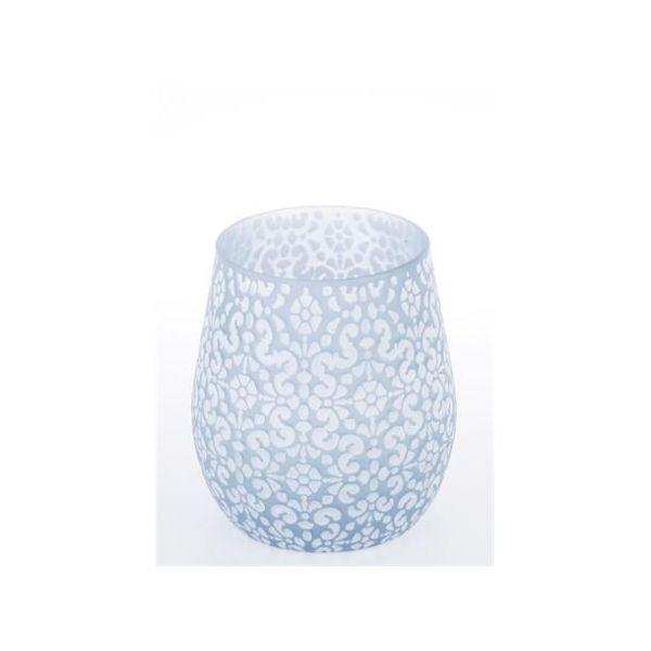Lysglass/vase orient lysblå