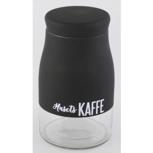 Krukke Husets Kaffe sort 11.5x19.5cm