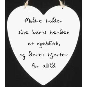 HJERTESKILT MØDRE HOLDER SINE
