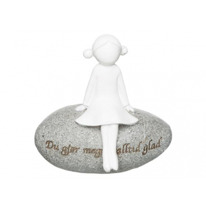 Figur på stein, Alltid glad
