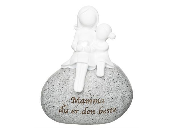 FIGUR PÅ STEIN, MAMMA H:8,5CM