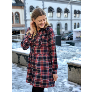Checks ruffle blouse/dress