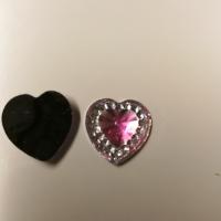 Små hjerter lys rosa