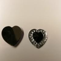 Små hjerter sort