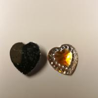 Små hjerter i gul/gull