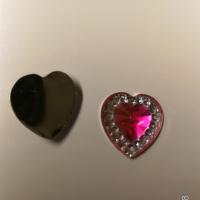 Små hjerter mørk rosa