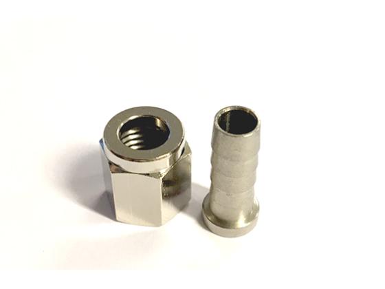 Nippel & Mutter til hurtigkobling (6,3 mm)