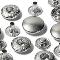 Trykknapp anorakk sølv 15 mm