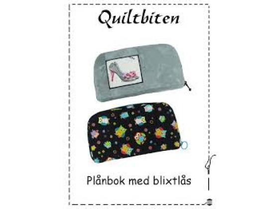 Lommebok med glidelås - quiltbiten