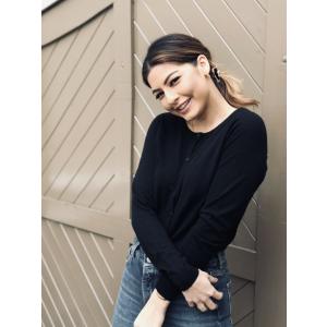 Costa knit cardigan - black